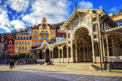 Karlovy Vary, Czech Republic. Karlovy Vary, or Karlsbad, is a famous spa city in western Bohemia, Czech Republic stock photography