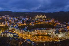 Karlovy Vary in Czech Republic Royalty Free Stock Photo