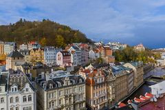 Karlovy Vary in Czech Republic Royalty Free Stock Images