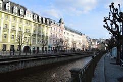 Karlovy Vary en Tchèque Images stock