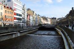 Karlovy Vary en Tchèque Photos libres de droits
