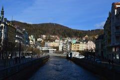 Karlovy Vary en Tchèque Images libres de droits