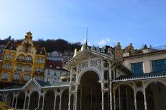 Karlovy Vary en Tchèque Photos stock