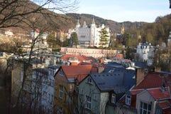Karlovy Vary en Tchèque Image libre de droits