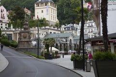 Karlovy Vary est ville située en Bohême occidentale image libre de droits