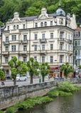 Karlovy Vary, früher - Karlsbad lizenzfreies stockfoto