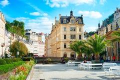 Karlovy Vary Hot springs Stock Image