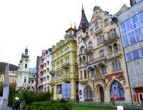 Karlovy Vary houses Royalty Free Stock Photo