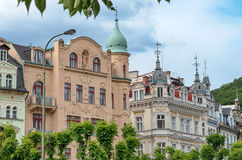 Karlovy Vary Karlsbad. Detai of typical bohemian architecture in city center of Karlovy Vary - Czech Republic Royalty Free Stock Images