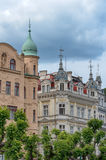 Karlovy Vary Karlsbad. Detai of typical bohemian architecture in city center of Karlovy Vary - Czech Republic Royalty Free Stock Image