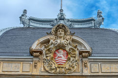 Karlovy Vary Karlsbad. Detai of typical bohemian architecture in city center of Karlovy Vary - Czech Republic Royalty Free Stock Photo