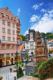 Karlovy Vary (Karlsbad) at sunny day Stock Photos