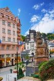 Karlovy Vary (Karlsbad) at sunny day. Czech republic Stock Photos