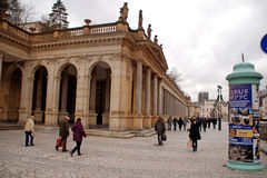Karlovy Vary, the most famous spa town of the Czech Republic. Royalty Free Stock Image