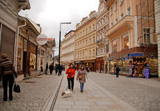 Karlovy Vary, the most famous spa town of the Czech Republic. Royalty Free Stock Photo
