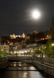 Karlovy Vary by night Stock Images