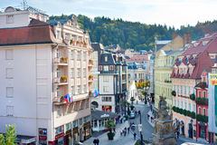 Karlovy Vary old town Royalty Free Stock Photography