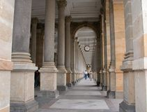 Karlovy Vary Palace. Corridor from Czech republic Royalty Free Stock Photography
