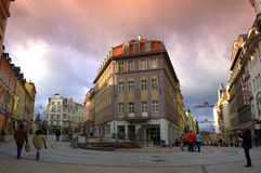 Karlovy Vary-Quadrat stockfotos
