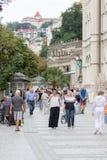 Karlovy Vary, République Tchèque - 15 août 2017 image libre de droits