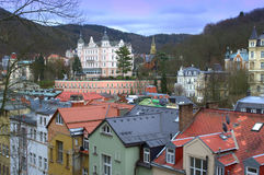 Karlovy Vary scenic view Royalty Free Stock Photo