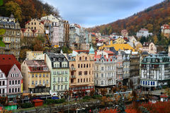 Karlovy Vary. Scenic view of Karlovy Vary town in authumn royalty free stock photo