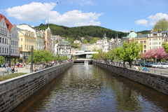 Karlovy Vary. SPA city Karlovy Vary, this photo was taken in spring Stock Image
