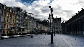 Karlovy Vary. A Square in Karlovy Vary Royalty Free Stock Photo