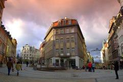 Karlovy Vary square Stock Photos