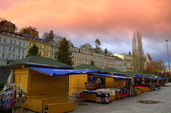 Karlovy Vary stalls Royalty Free Stock Photo