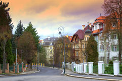 Karlovy Vary street Royalty Free Stock Photo