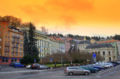 Karlovy Vary streets Royalty Free Stock Images