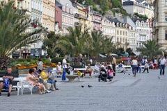 Karlovy Vary, Tschechische Republik - Weltbadekurort Stockfoto