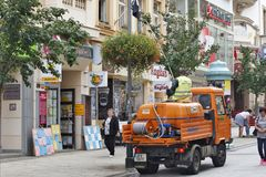 Karlovy Vary, Tschechische Republik - Weltbadekurort Stockfotografie