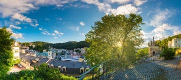 Karlovy Vary von Tri Krizu Standpunkt U lizenzfreie stockfotos