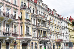 Karlovy Vary, West-Böhmen stockbild