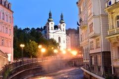 Karlovy Vary, West-Böhmen lizenzfreie stockfotos