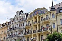 Karlovy Vary, West-Böhmen stockfotos