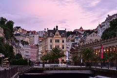Karlovy Vary, West-Böhmen stockbilder