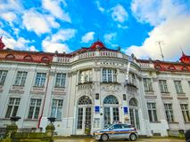 Karlovy Zmienia, Cszech republika - Styczeń 01, 2018: Elizabeth skąpania w Karlovy Zmieniają, republika czech Zdjęcie Stock