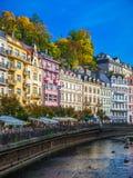 Karlovy Zmienia, republika czech - Wrzesień 30, 2017: Znany na całym świecie Fotografia Royalty Free
