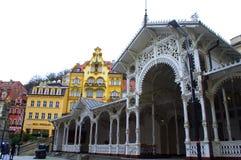 Karlovy Zmienia widok obraz stock