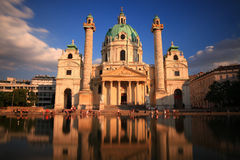 Karls Church, Vienna Royalty Free Stock Photo