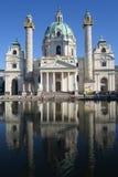 Karls kościół w Wiedeń, Austria obrazy stock