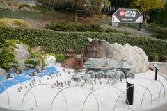 KARLSBADZKI, USA, FEB 6: Star Wars Miniland przy Legoland w Karlsbadzkim, Zdjęcie Royalty Free