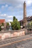 Karlsbuecke aan Henkersteg Stock Afbeelding