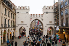 Karlsgate i Munich Arkivbilder