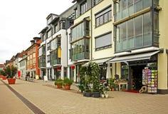 Karlshrasse i den Friedrichshafen staden germany Royaltyfri Fotografi