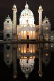 Karlskirche στη Βιέννη, Αυστρία Στοκ Φωτογραφία