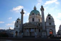 Karlskirche, вена Стоковые Фото